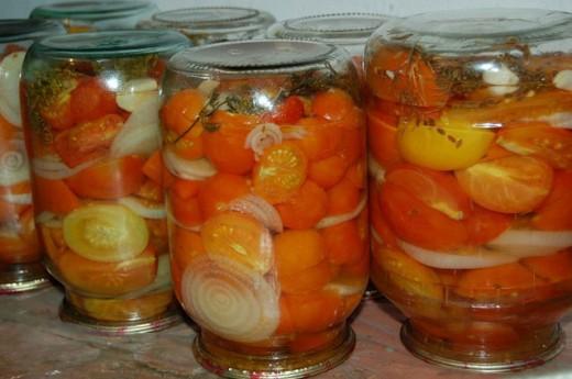 помидоры маринуем