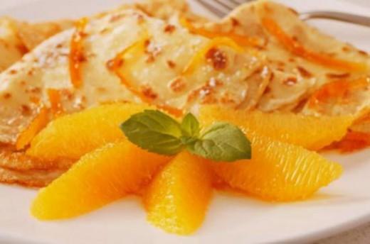Блинчики с апельсинами