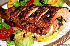 Форель с овощной начинкой