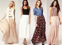 С чем правильно сочетать длинные юбки и платья