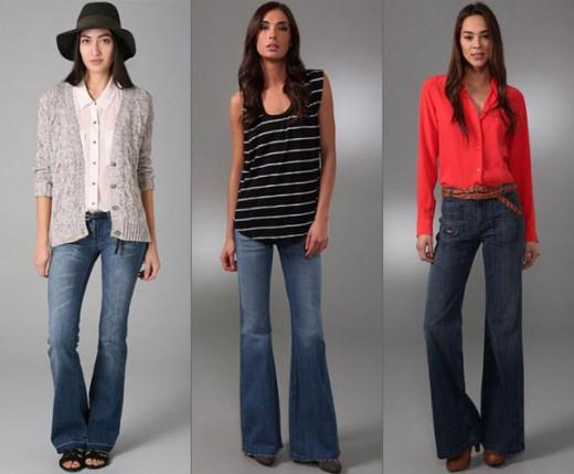 Что носить этой весной с широкими джинсами