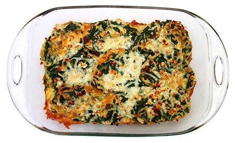 Страта со шпинатом и сыром