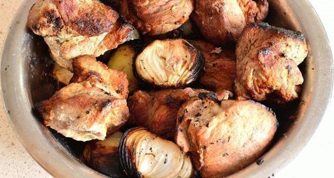 Приготовить шашлык из свинины в уксусе