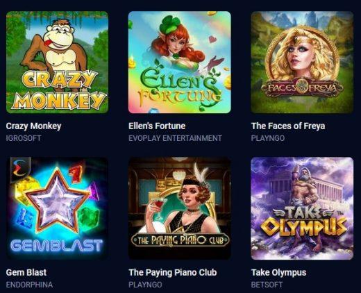 Игры в казино Вулкан бет